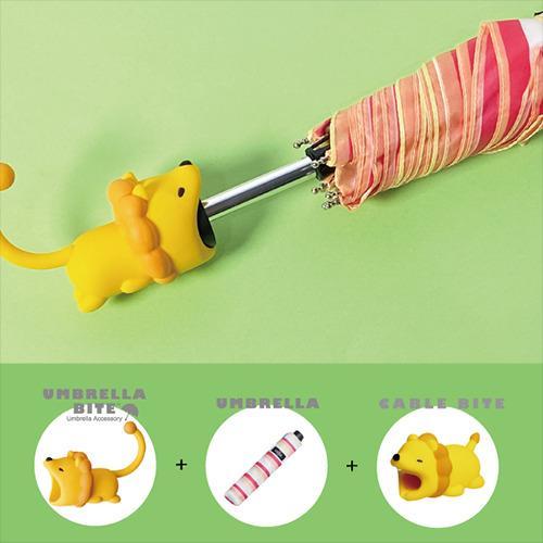 日本 UMBRELLA BITE Lion 獅子3件套裝 (UMBRELLA BITE + 雨傘 + CABLE BITE)