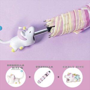 日本 UMBRELLA BITE Lion 獨角獸3件套裝 (UMBRELLA BITE + 雨傘 + CABLE BITE)