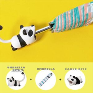 日本 UMBRELLA BITE Panda 熊貓3件套裝 (UMBRELLA BITE + 雨傘 + CABLE BITE)
