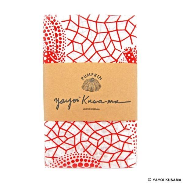 草間彌生南瓜手拭巾 (紅色)