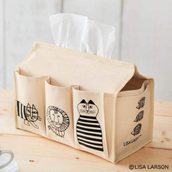 日本雜誌 steady. (ステディ.) 2020年11月号【付録】LISA LARSON 紙巾盒收納袋