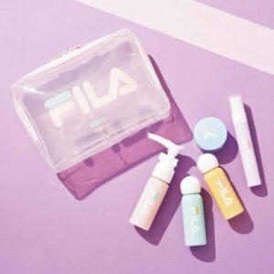 日本雜誌 sweet スウィート 2020年12月号【付録】FILA透明收納袋+旅行樽仔套裝一套5件