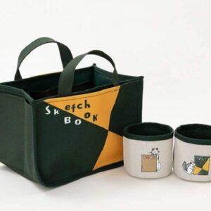 日本雜誌 ZUAN LOVE!「図案スケッチブック」インテリアトートBOOK【付録】手挽袋附送2個可愛配件包
